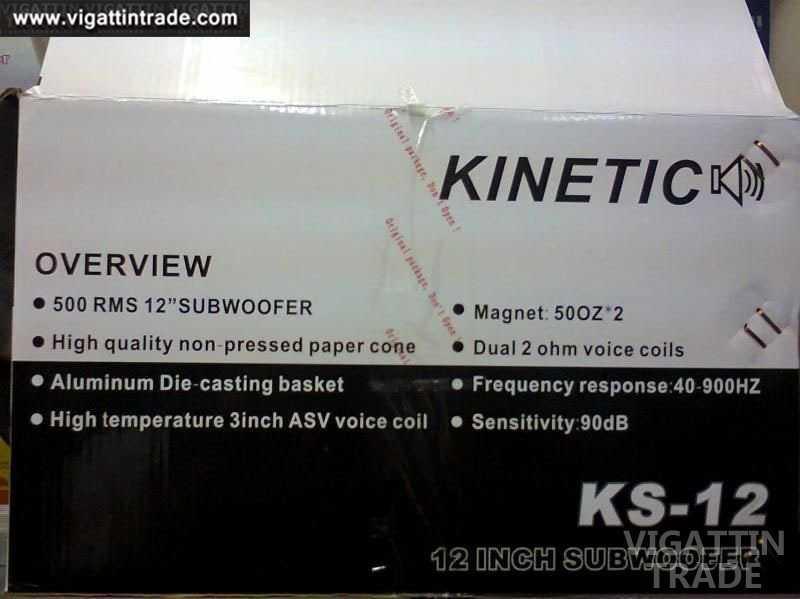 Kinetic KS-12 subwoofer - Vigattin Trade
