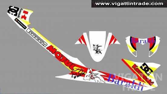 Kawasaki Fury Sticker Design