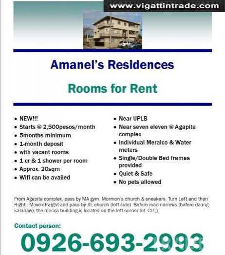 Rooms For Rent Near Uplb