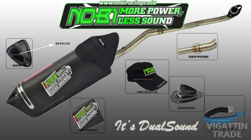 Nob1 Pipe Neo Ss Dual Sound Alloy Tip Sniper MX FREE SHIPPING