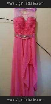 Long Back Gown Color Pomelo Pink