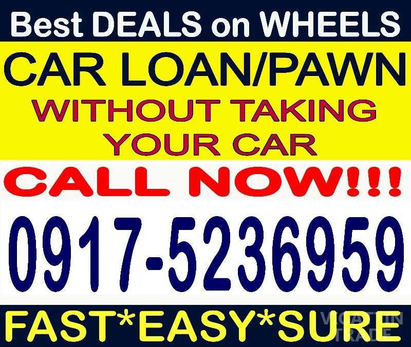 car loan pawn sangla without taking your car or cr only vigattin trade. Black Bedroom Furniture Sets. Home Design Ideas