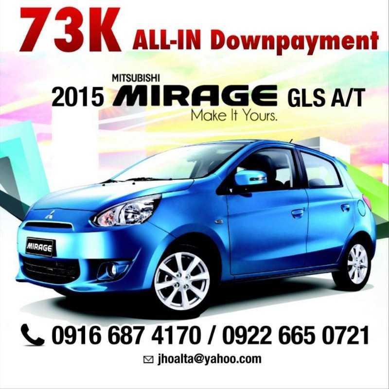 Brand New! 2015 Mitsubishi MIRAGE 1.2 GLS A/T (upgraded