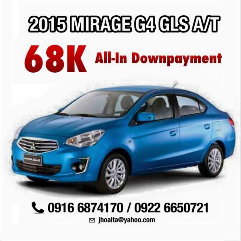 Brand New! 2015 MITSUBISHI MIRAGE G4 GLS A/T - 68K ALL-IN DOWNPAYMENT - Vigattin Trade