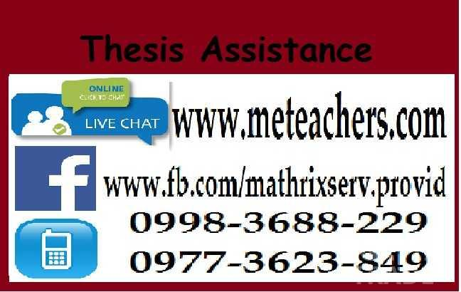 thesis assistant thesis writing