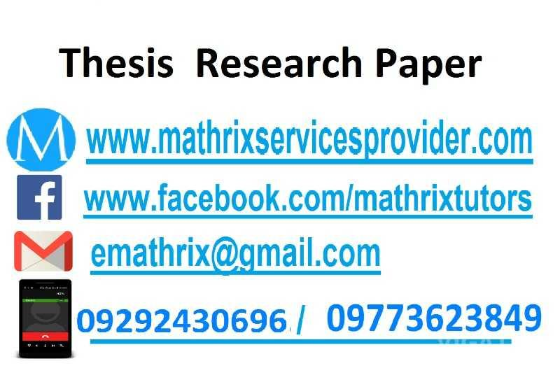 Academic research services